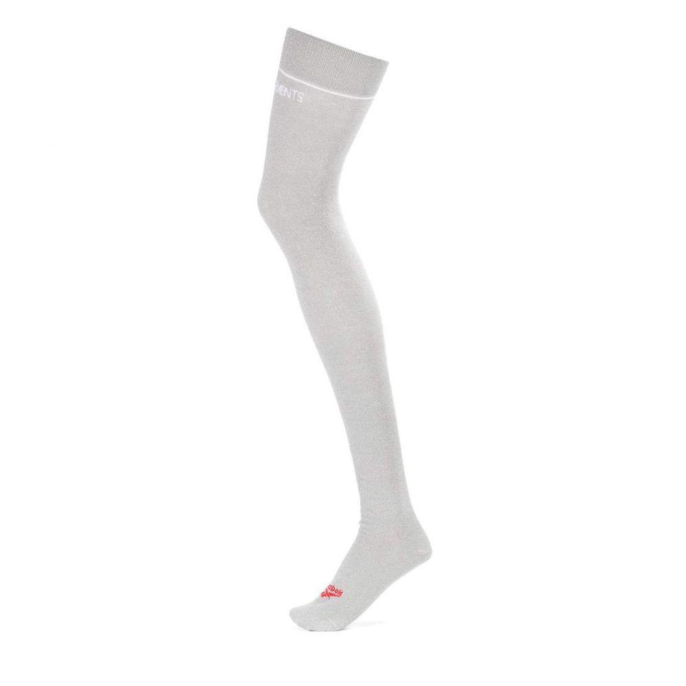 ヴェトモン Vetements レディース インナー・下着 ソックス【x Reebok over-the-knee socks】Grey