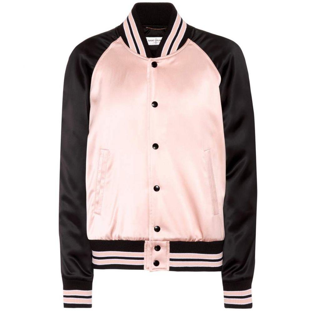 イヴ サンローラン Saint Laurent レディース アウター ブルゾン【Satin bomber jacket】Poudre