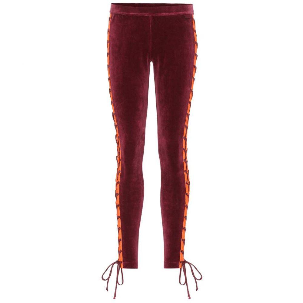 プーマ Fenty by Rihanna レディース インナー・下着 スパッツ・レギンス【Embellished velour leggings】Tawny Port