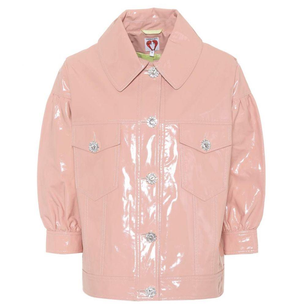 シュリンプス Shrimps レディース アウター レザージャケット【Faux patent leather blouson jacket】Peach Beige