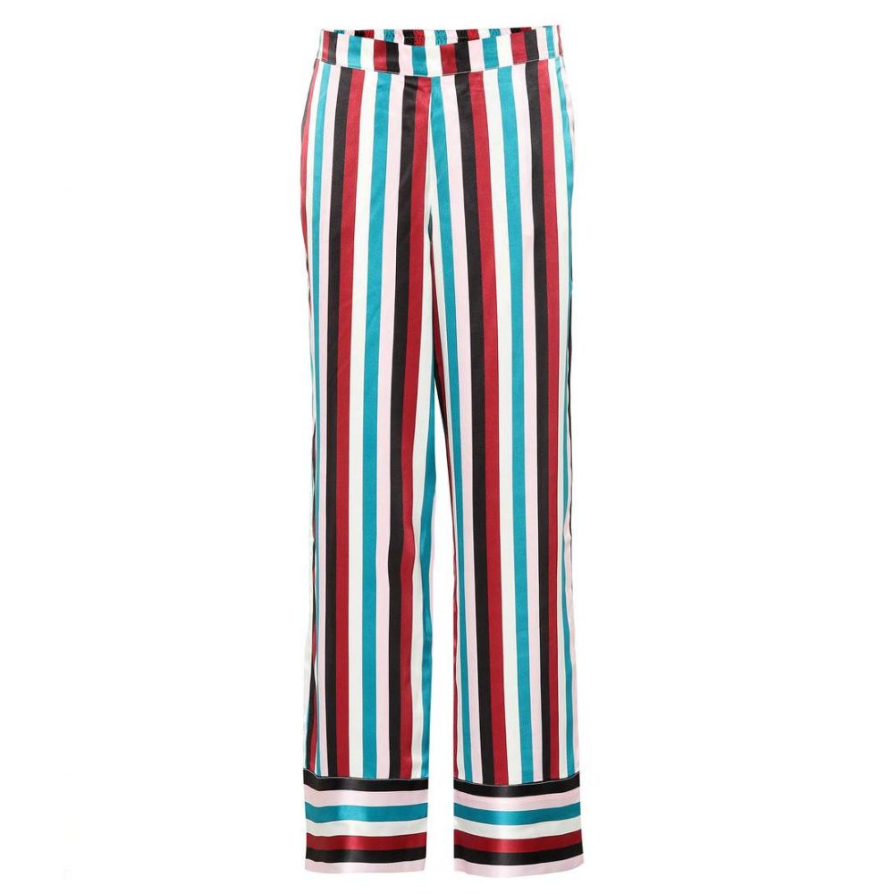 アッセーノ Asceno レディース インナー・下着 パジャマ・ボトムのみ【Striped silk pajama pants】Multi Stripe