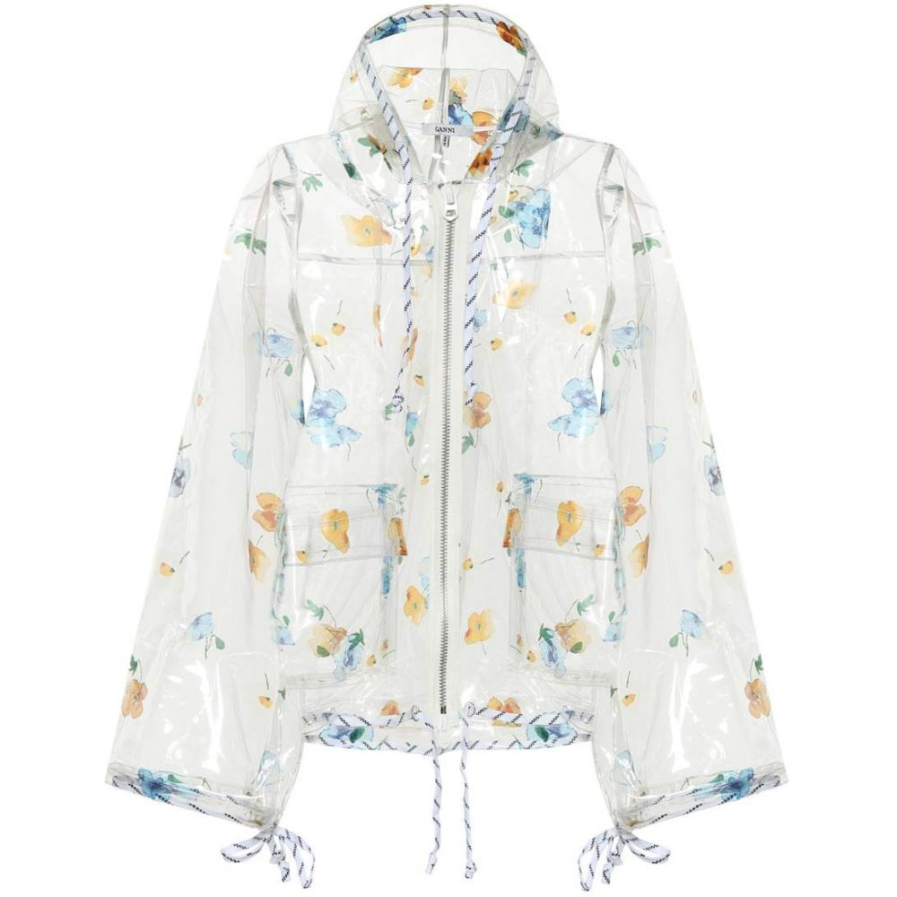 ガニー Ganni レディース アウター レインコート【Petunia floral-printed raincoat】Transparent