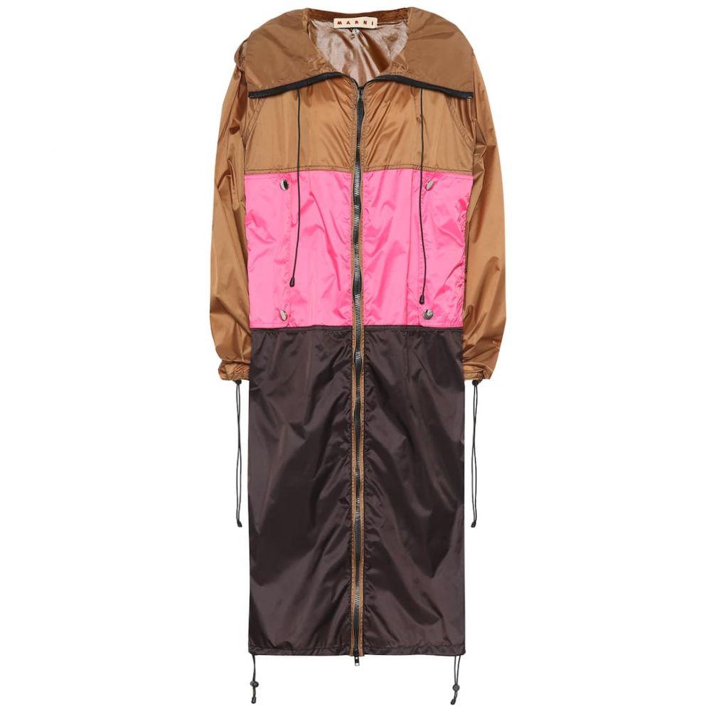 マルニ Marni レディース アウター レインコート【Colorblocked raincoat】cigar