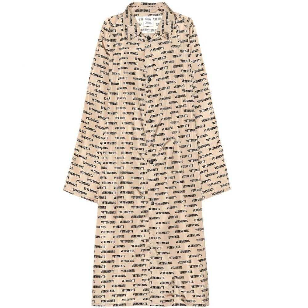ヴェトモン Vetements レディース アウター レインコート【Printed raincoat】beige/monogram