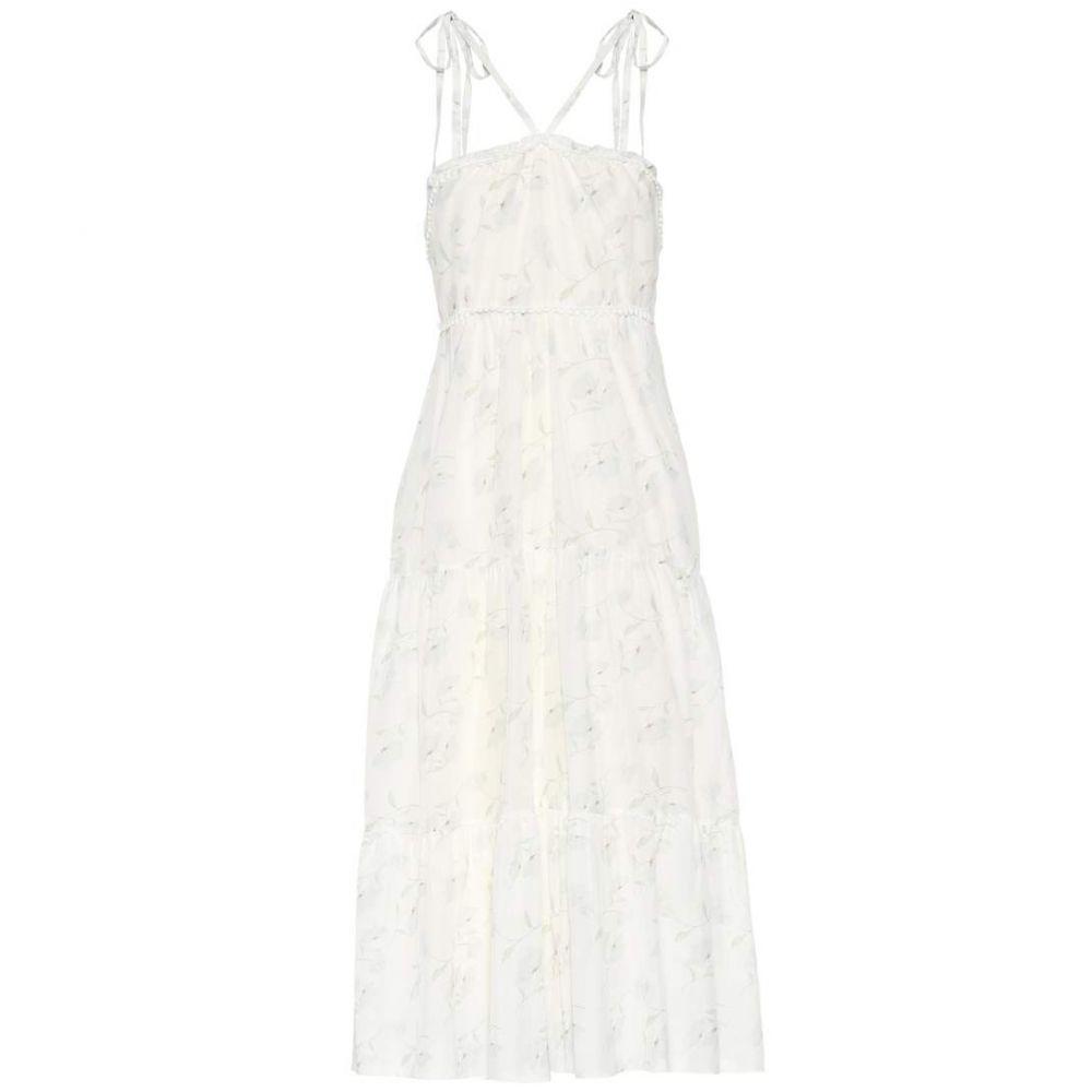 アテナ プロコポー Athena Procopiou レディース 水着・ビーチウェア ビーチウェア【Romance In The Wind printed cotton and silk dress】White/Mix