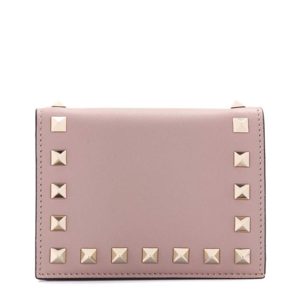 ヴァレンティノ Valentino レディース 財布【Garavani Rockstud leather wallet】Poudre