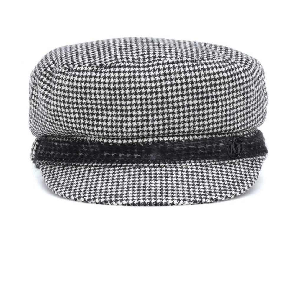 メゾンミッシェル Maison Michel レディース 帽子【New Abby houndstooth hat】Black
