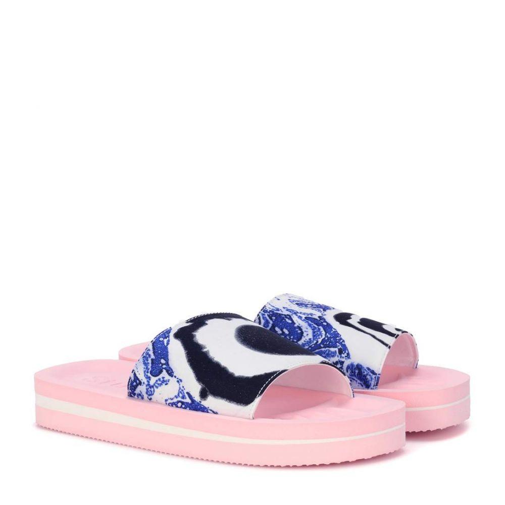 アクネ ストゥディオズ Acne Studios レディース シューズ・靴 サンダル・ミュール【Tania printed slip-on sandals】Blue/Pink