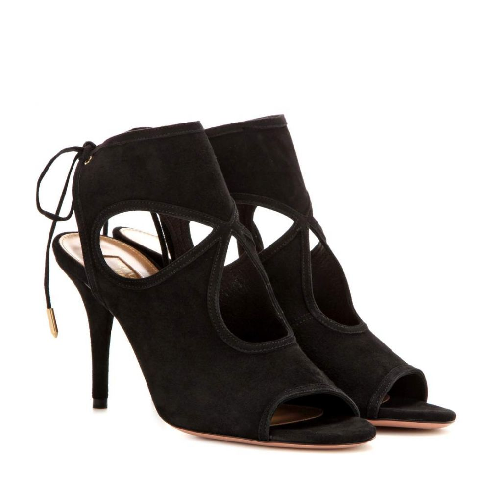 アクアズーラ Aquazzura レディース シューズ・靴 サンダル・ミュール【Sexy Thing 85 suede sandals】Black