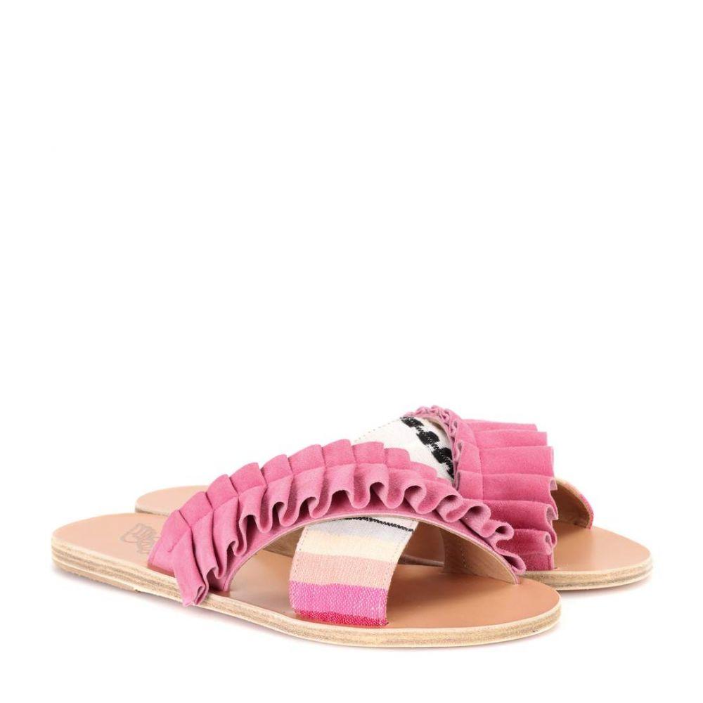 レムレム Lemlem レディース シューズ・靴 サンダル・ミュール【x Ancient Greek Sandals Thais Frills sandals】Suede Pink/ Ombre FBR
