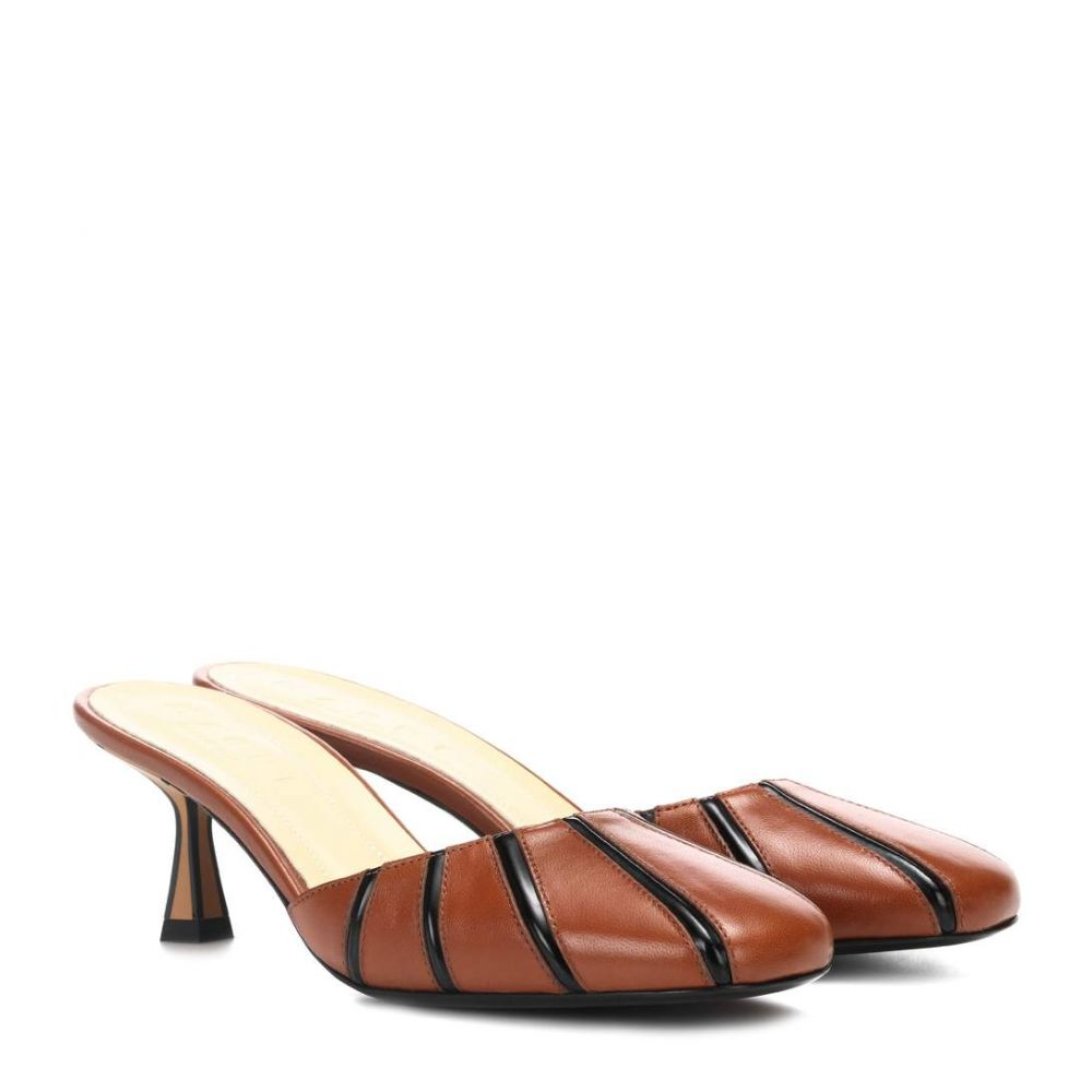 マルニ Marni レディース シューズ・靴 サンダル・ミュール【Leather mules】Cuio/Black