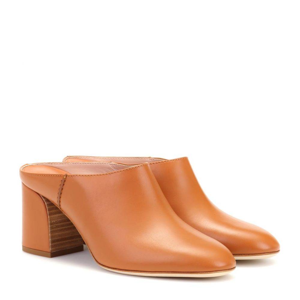 トッズ Tod's レディース シューズ・靴 サンダル・ミュール【Leather mules】Light Brown