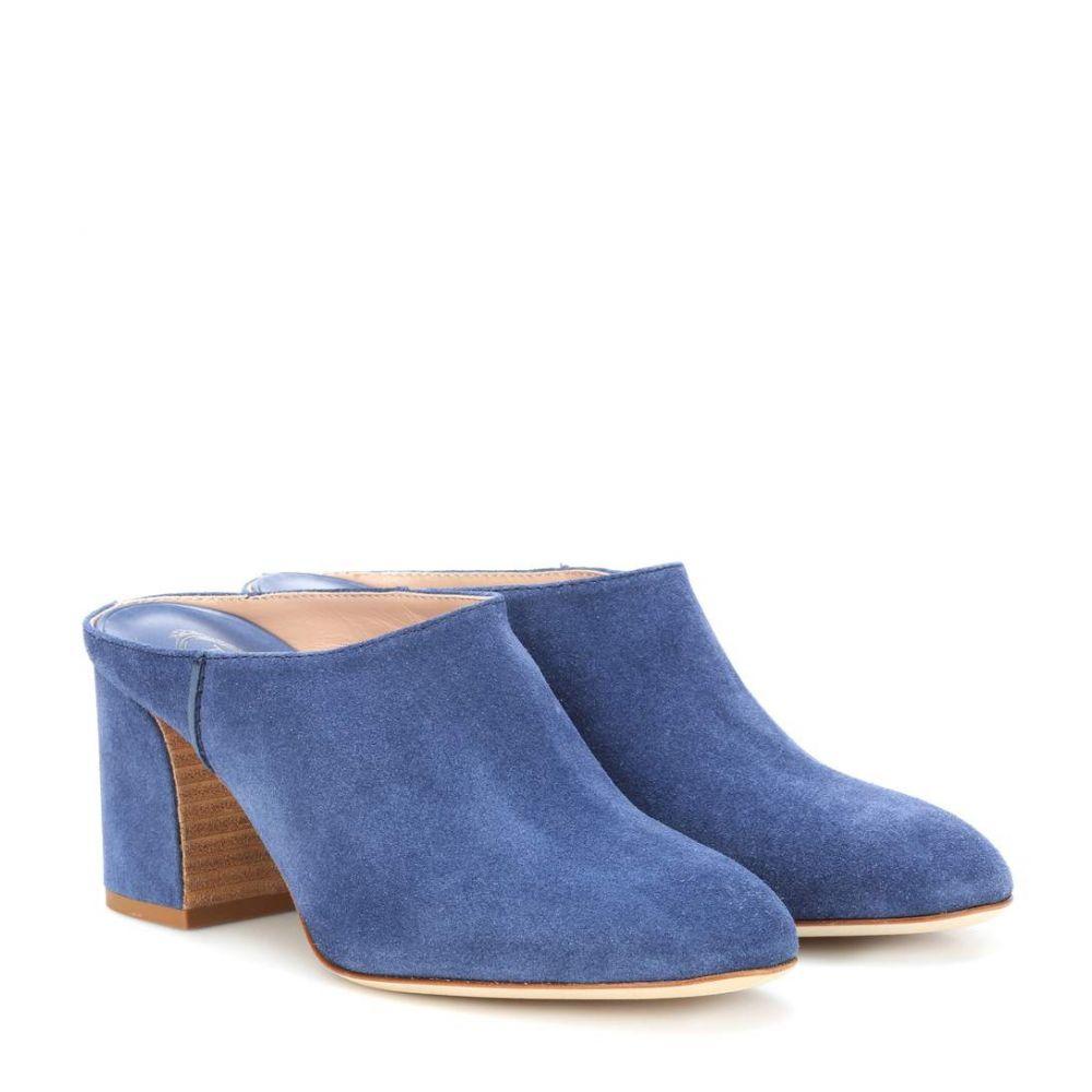 トッズ Tod's レディース シューズ・靴 サンダル・ミュール【Suede mules】Light Blue