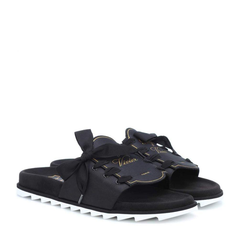 ロジェ ヴィヴィエ Roger Vivier レディース シューズ・靴 サンダル・ミュール【Slidy Viv' Etiquette slides】Black