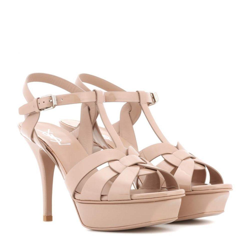 イヴ サンローラン Saint Laurent レディース シューズ・靴 サンダル・ミュール【Tribute 75 patent leather sandals】Nude