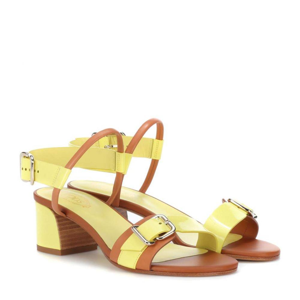 トッズ Tod's レディース シューズ・靴 サンダル・ミュール【Patent leather sandals】Nude
