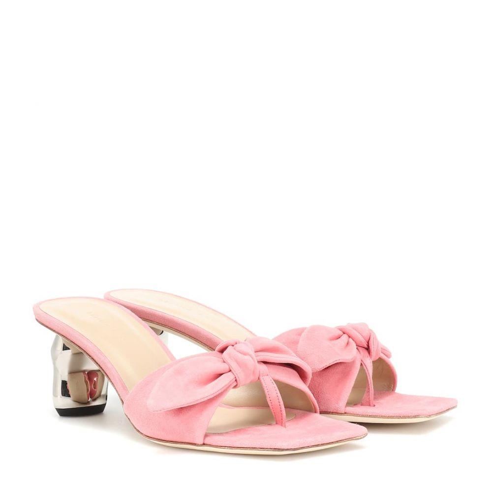 レジーナ ピヨ Rejina Pyo レディース シューズ・靴 サンダル・ミュール【Lottie suede mules】Suede Pink Gold Heel