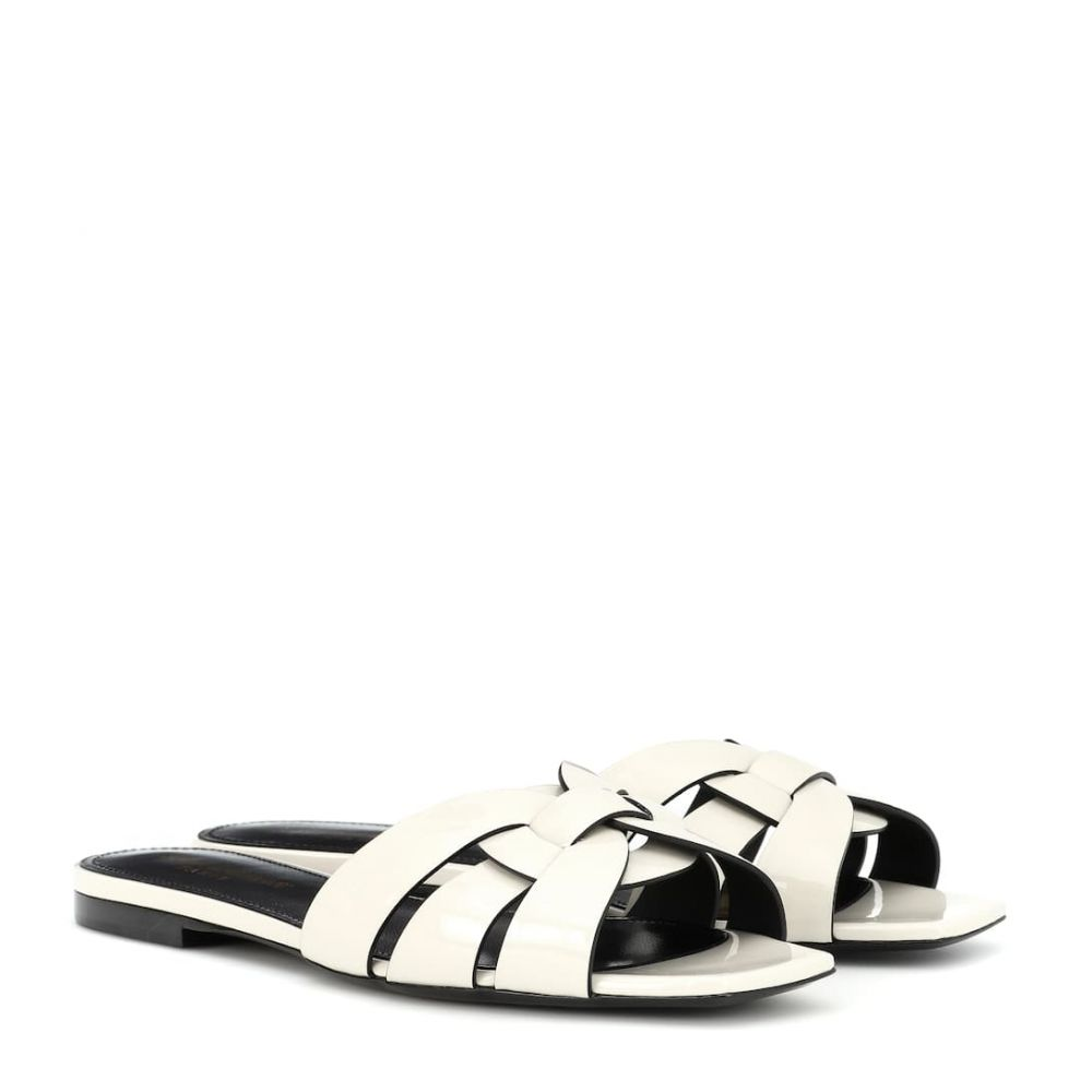 イヴ サンローラン Saint Laurent レディース シューズ・靴 サンダル・ミュール【Nu Pieds 05 patent leather sandals】Neutro
