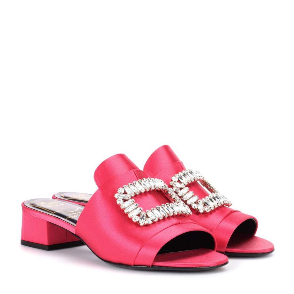 ロジェ ヴィヴィエ Roger Vivier レディース シューズ・靴 サンダル・ミュール【Slipper New Strass sandals】Rasberry Red