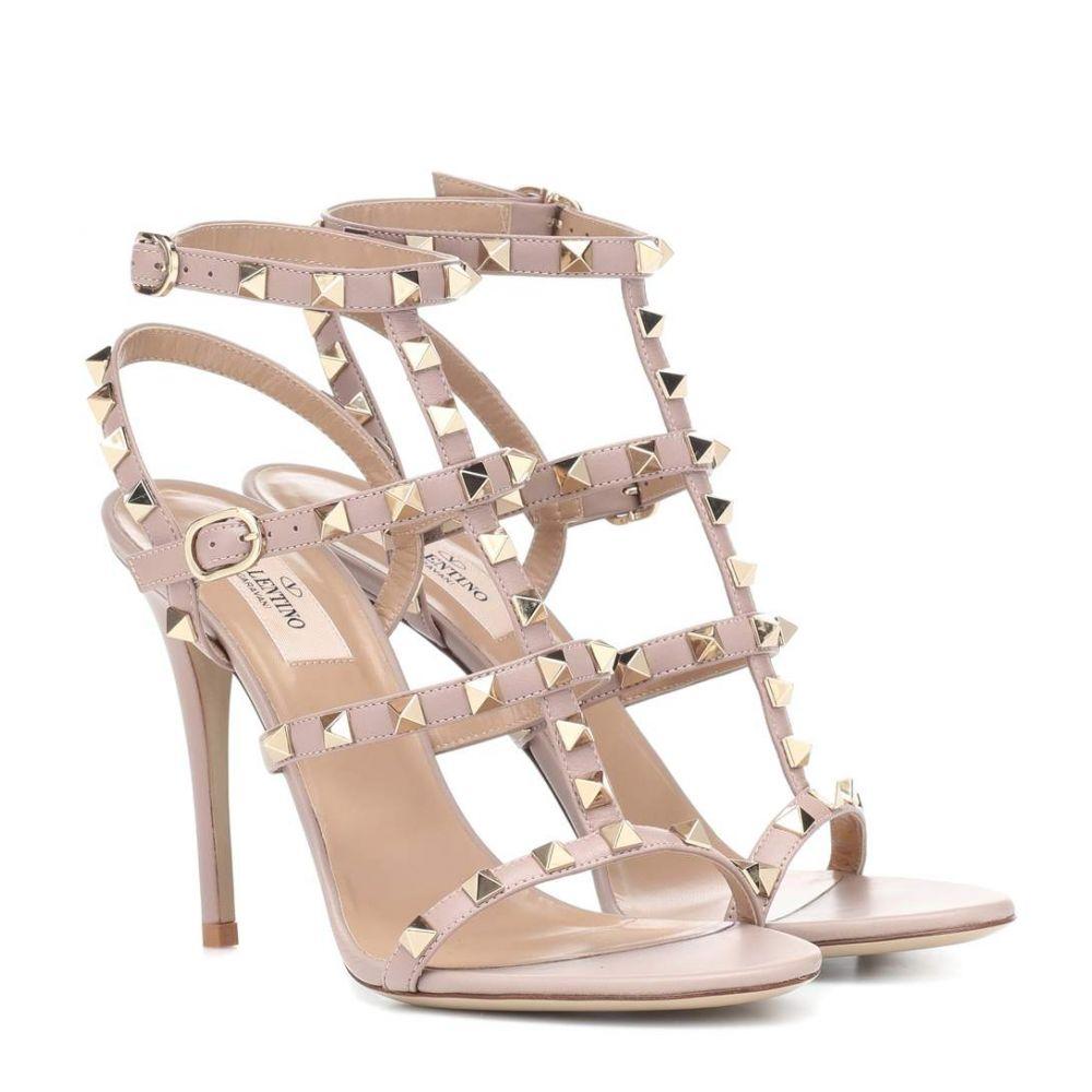 ヴァレンティノ Valentino レディース シューズ・靴 サンダル・ミュール【Garavani Rockstud leather sandals】Poudre
