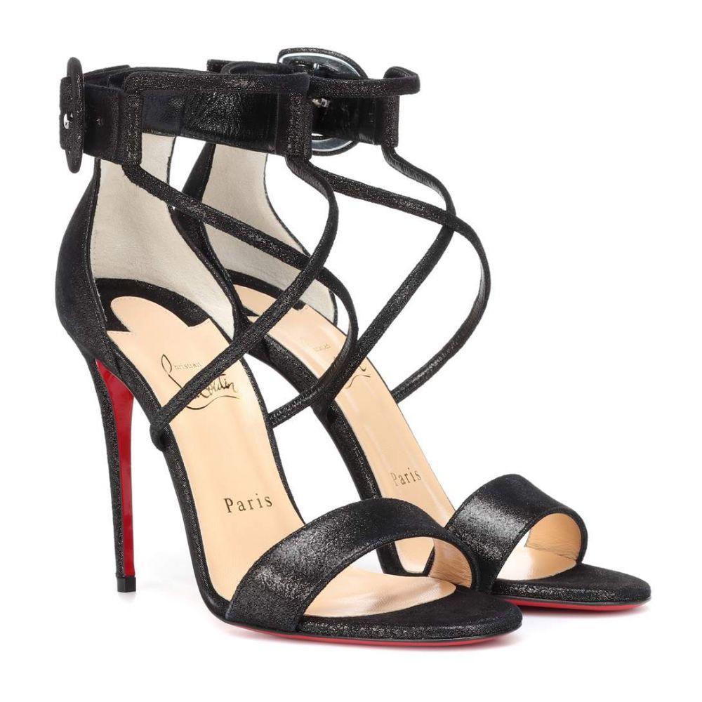 クリスチャン ルブタン Christian Louboutin レディース シューズ・靴 サンダル・ミュール【Choca 100 suede lame sandals】