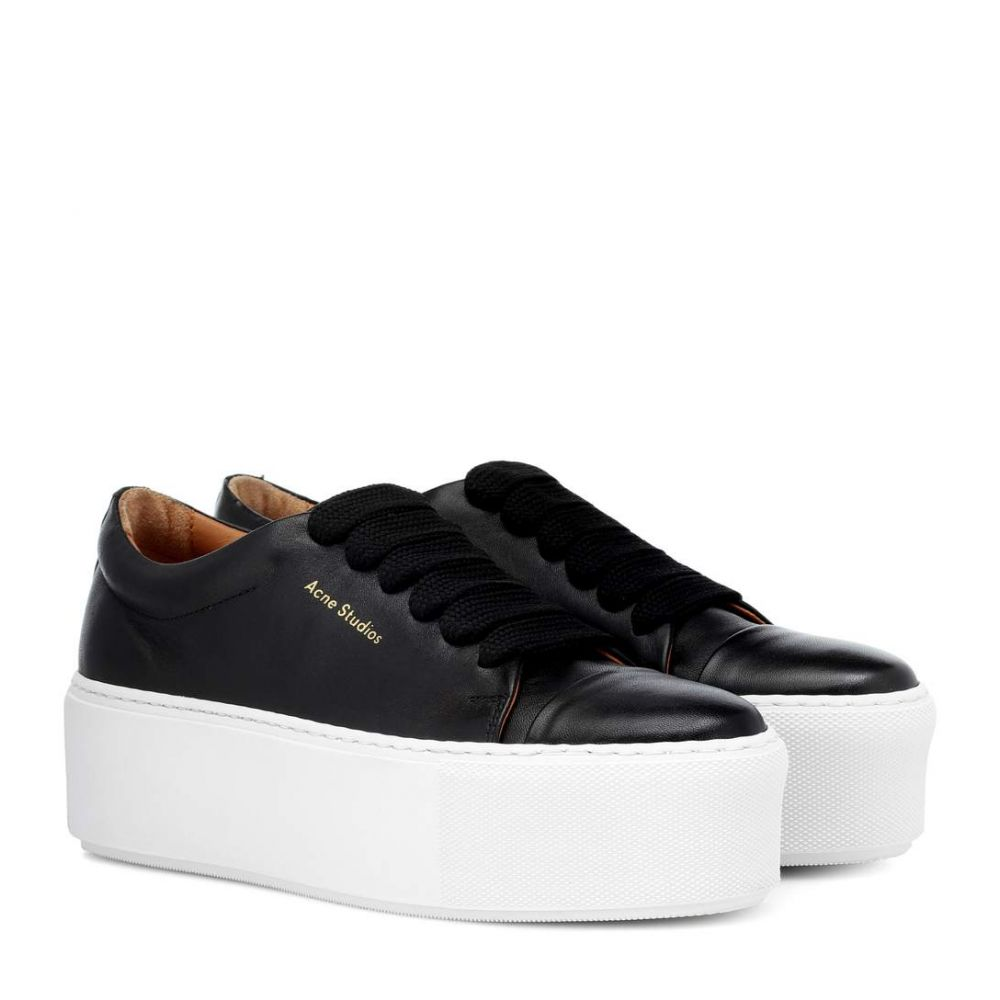 アクネ ストゥディオズ Acne Studios レディース シューズ・靴 スニーカー【Drihanna platform leather sneakers】Black/White