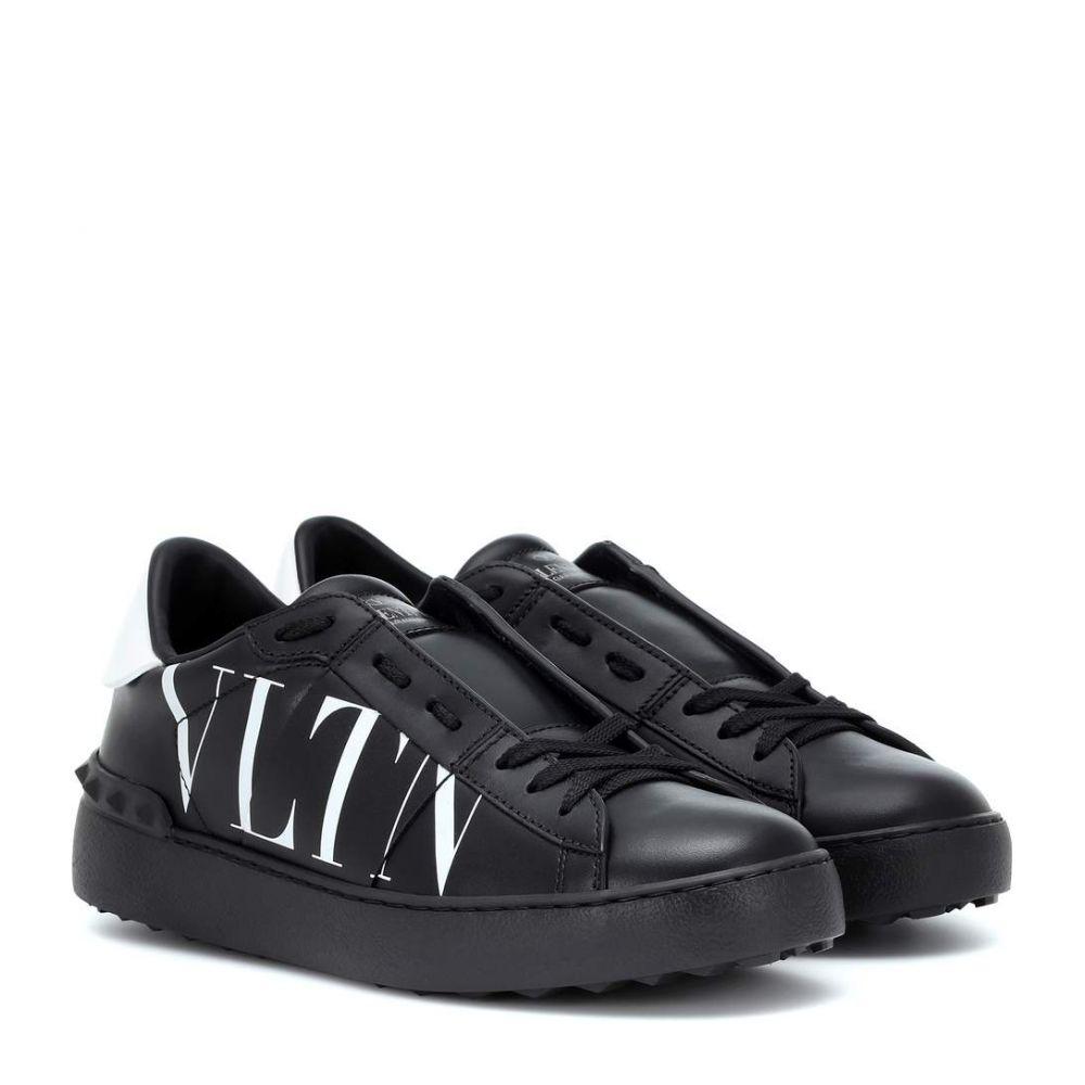 ヴァレンティノ Valentino レディース シューズ・靴 スニーカー【Garavani VLTN leather sneakers】Black