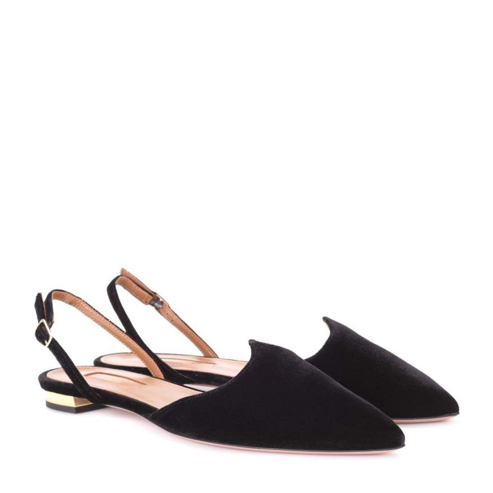 アクアズーラ Aquazzura レディース シューズ・靴 スリッポン・フラット【Nairobi velvet ballerinas】BLACK