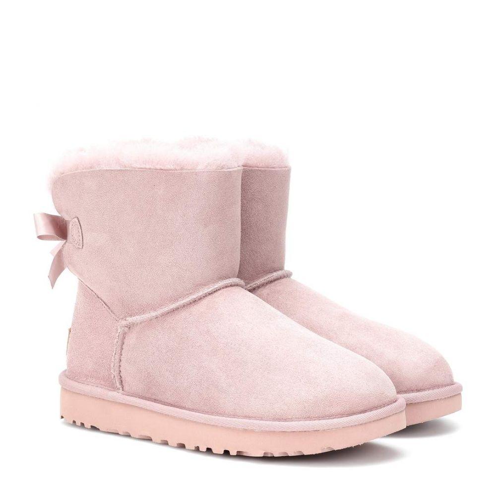 アグ Ugg レディース シューズ・靴 ブーツ【Mini Bailey Bow II suede boots】Dusk