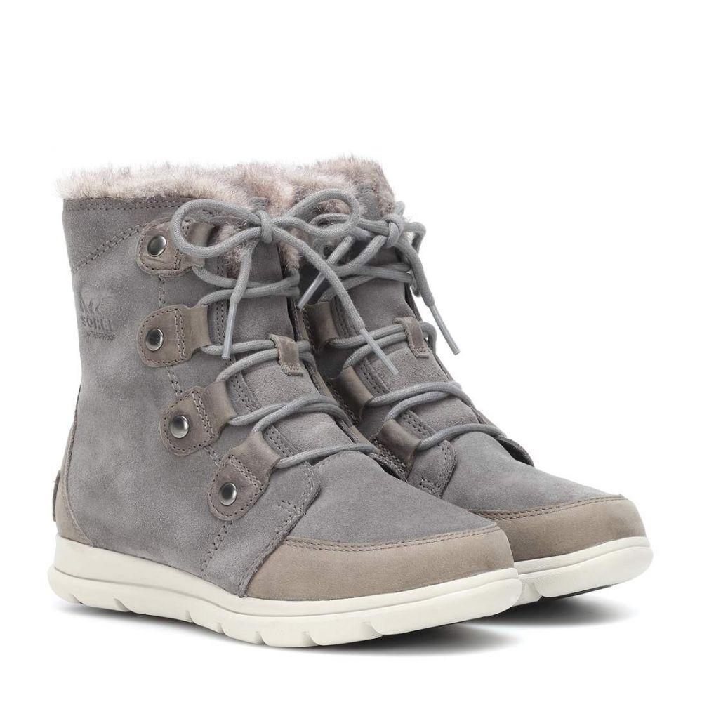 ソレル Sorel レディース シューズ・靴 ブーツ【Explorer Joan suede boots】Quarry Black