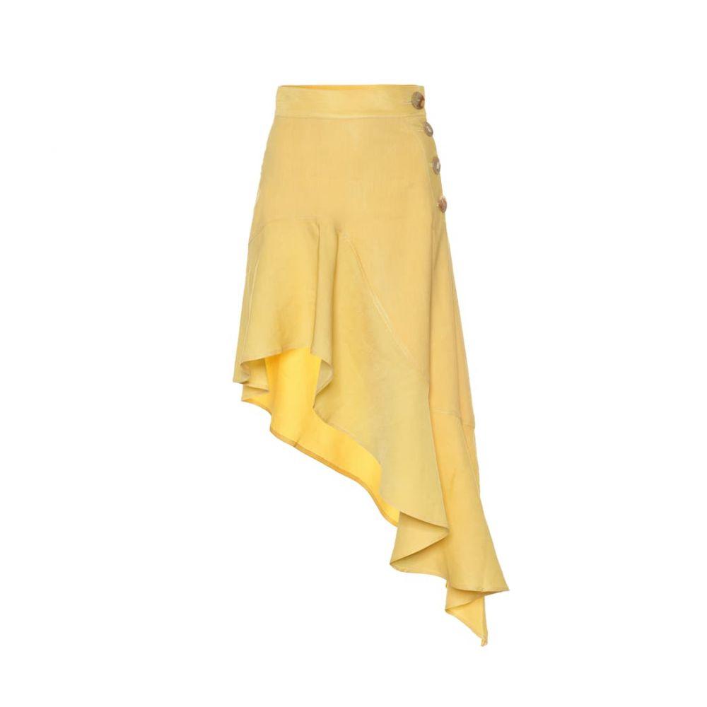 レジーナ ピヨ Rejina Pyo レディース スカート ひざ丈スカート【Ella linen-blend skirt】yellow