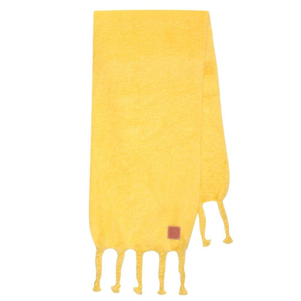 ロエベ Loewe レディース マフラー・スカーフ・ストール【Oversized mohair and wool scarf】yellow