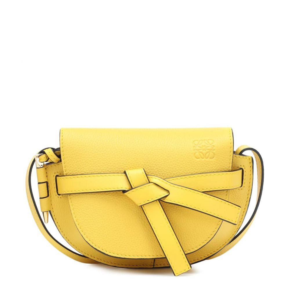 ロエベ Loewe レディース バッグ ショルダーバッグ【Gate Mini leather crossbody bag】yellow
