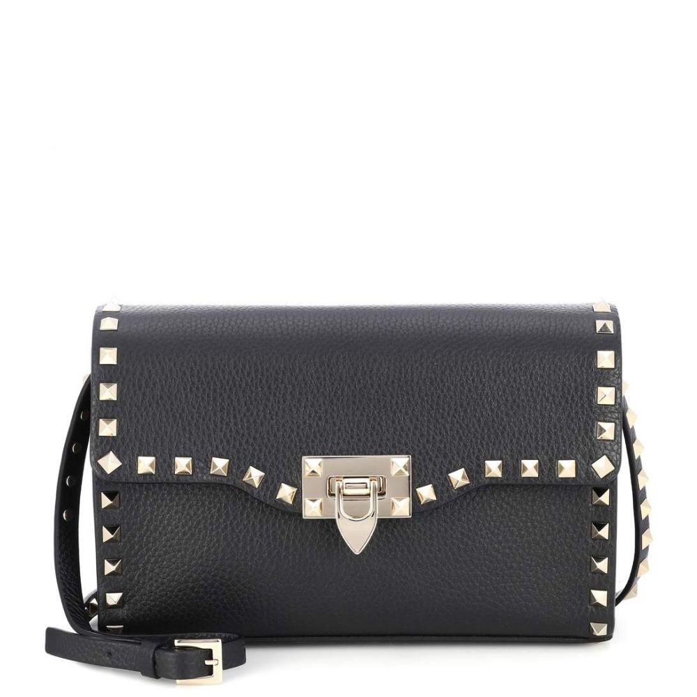 ヴァレンティノ Valentino レディース バッグ ショルダーバッグ【Garavani Rockstud leather shoulder bag】Nero