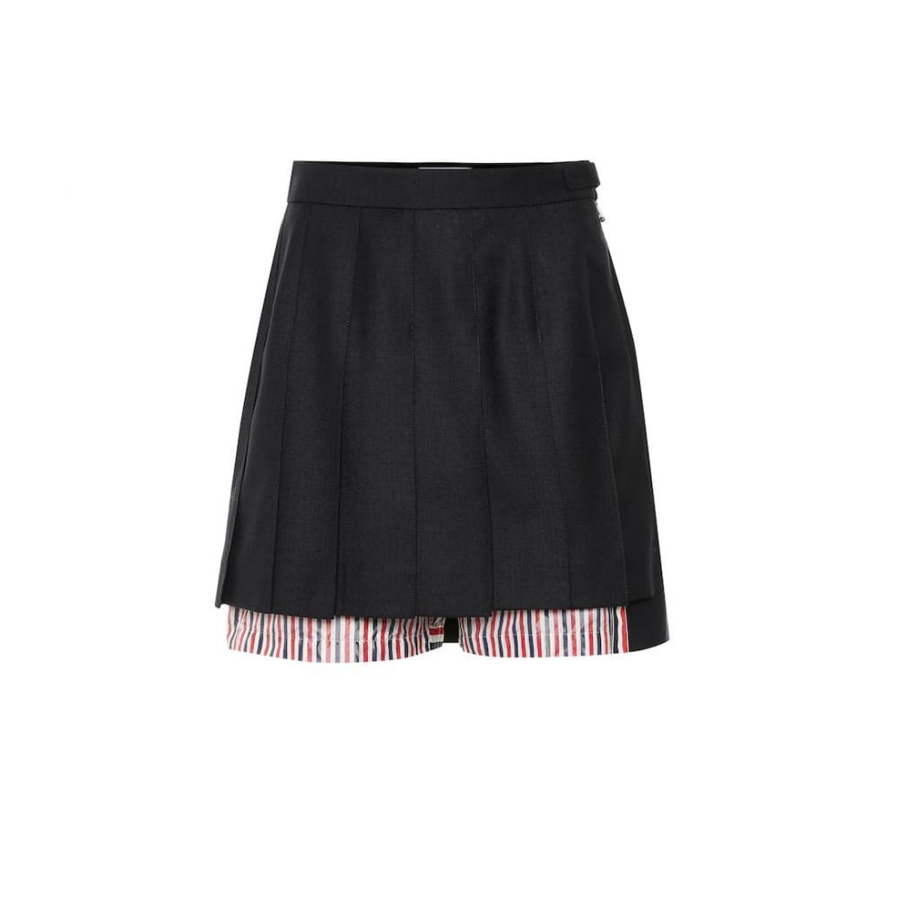 トム ブラウン Thom Browne レディース ボトムス・パンツ ショートパンツ【Wool and cotton shorts】Navy