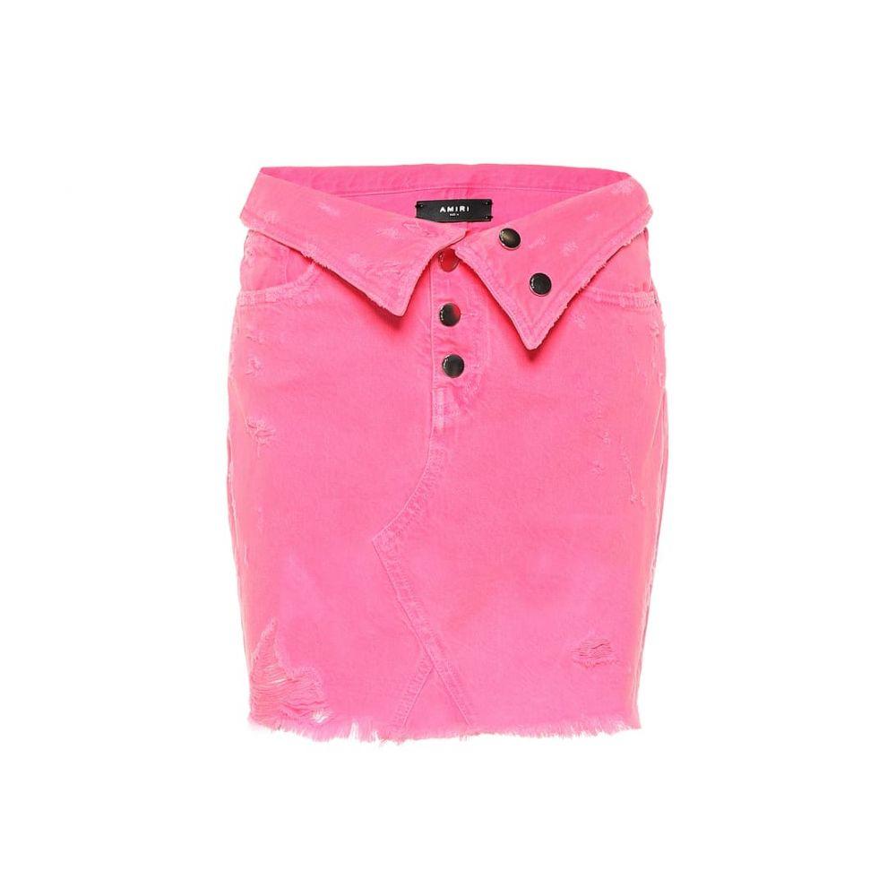 アミリ Amiri レディース スカート ミニスカート【Denim miniskirt】Neon Pink
