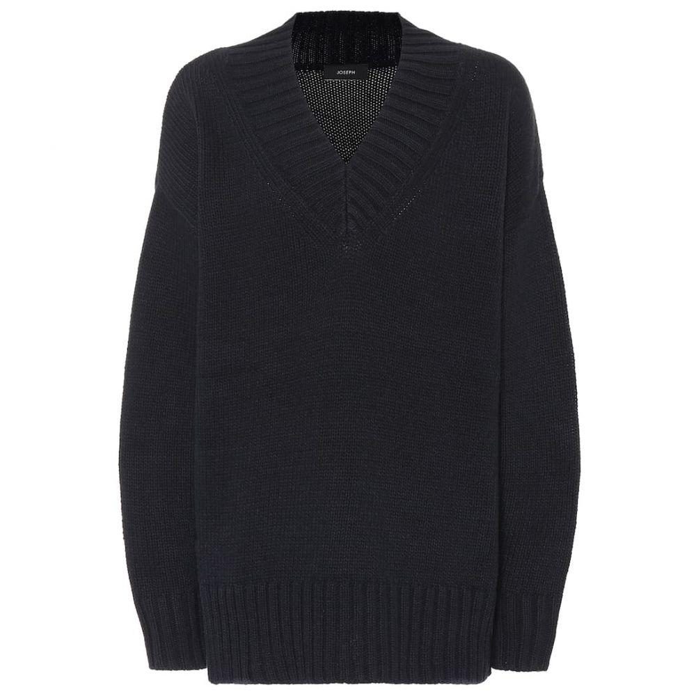 ジョゼフ Joseph レディース トップス ニット・セーター【Cotton-blend sweater】navy