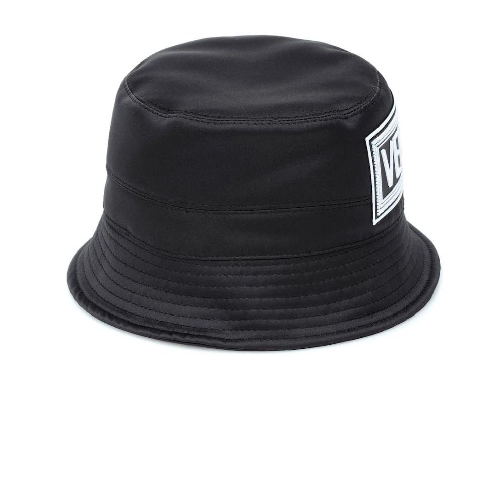 ヴェルサーチ Versace レディース 帽子 ハット【Satin bucket hat】Nero