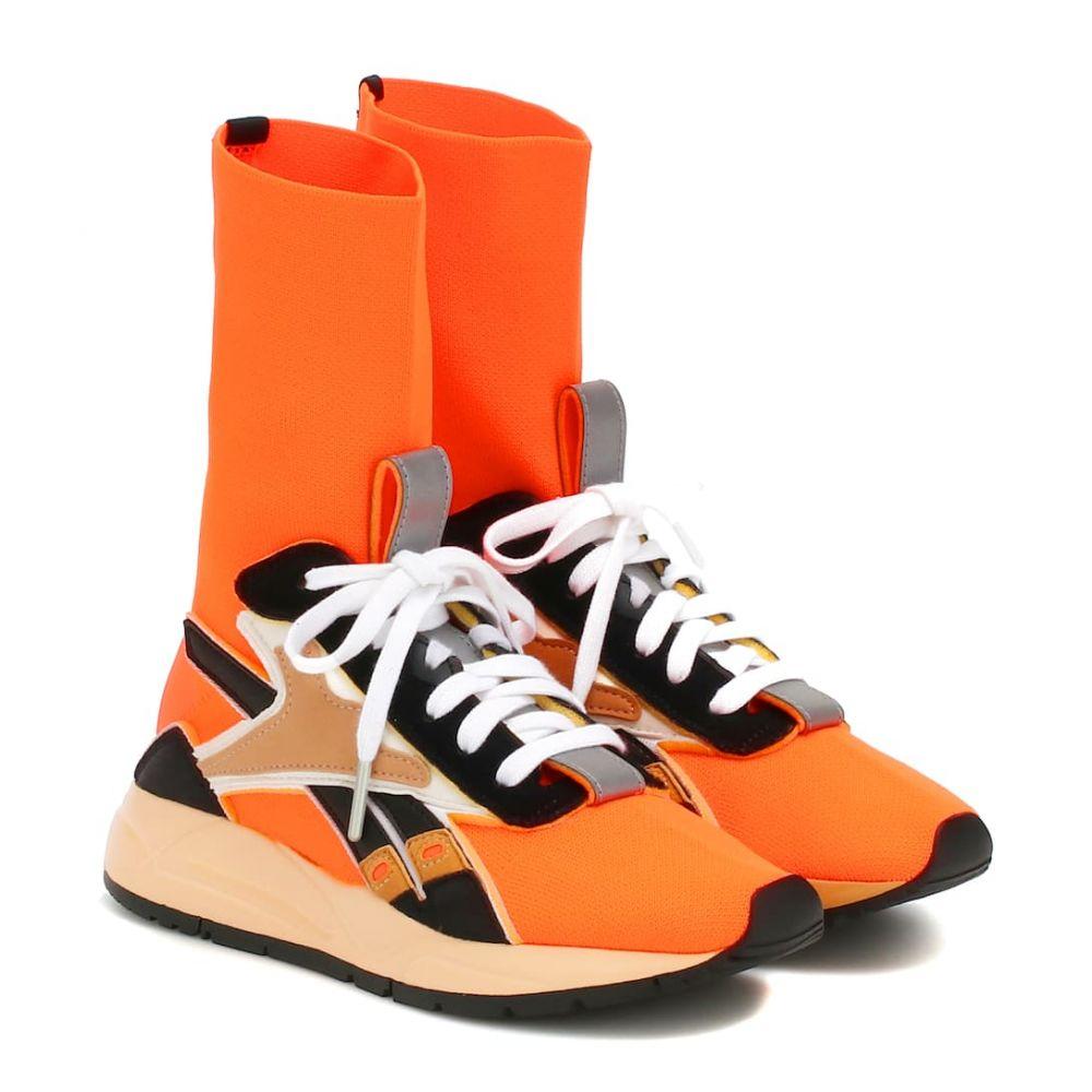 リーボック Reebok x Victoria Beckham レディース シューズ・靴 スニーカー【Bolton Sock leather-trimmed sneakers】Neon Orange