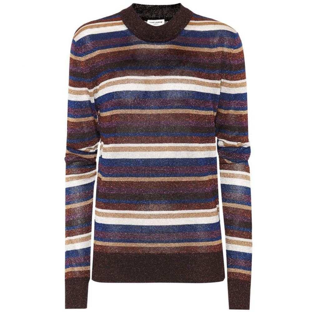 イヴ サンローラン Saint Laurent レディース トップス ニット・セーター【Striped sweater】Multicolore
