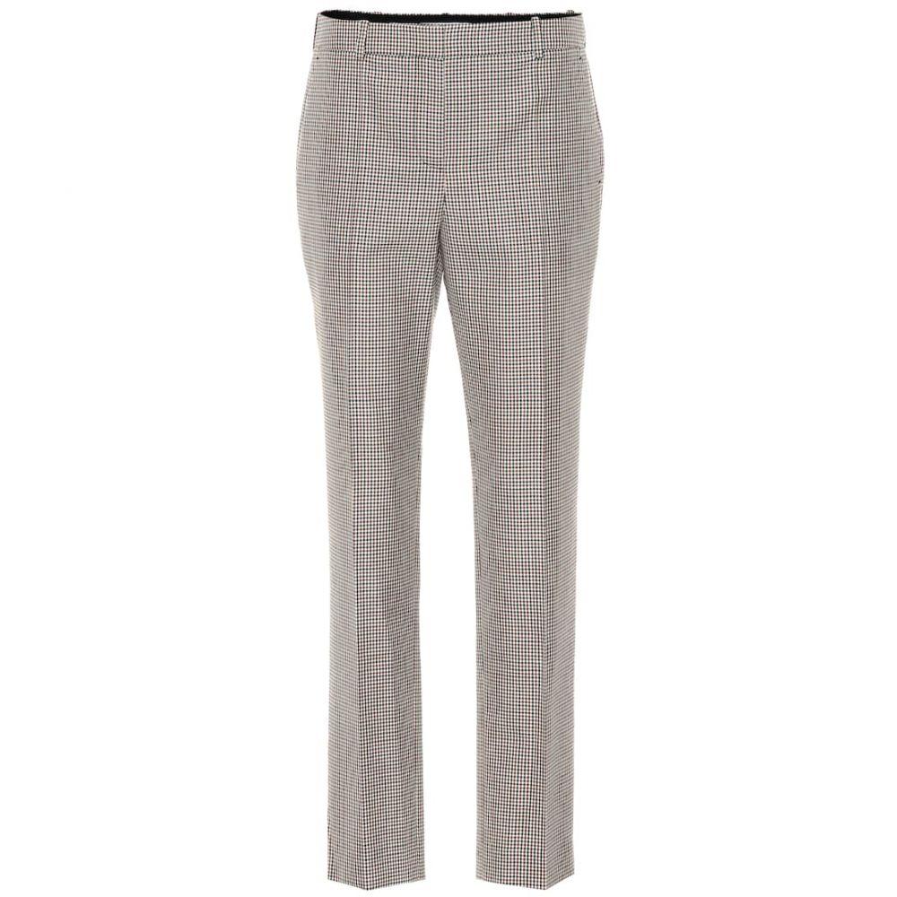 ジバンシー Givenchy レディース ボトムス・パンツ【Mid-rise straight wool pants】Natural/Brown