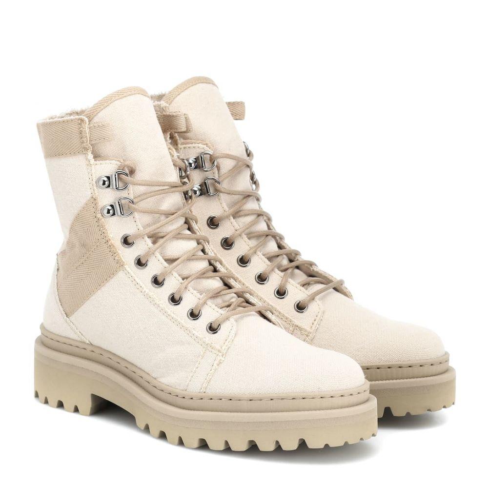 バルマン Balmain レディース シューズ・靴 ブーツ【Canvas ankle boots】Natural