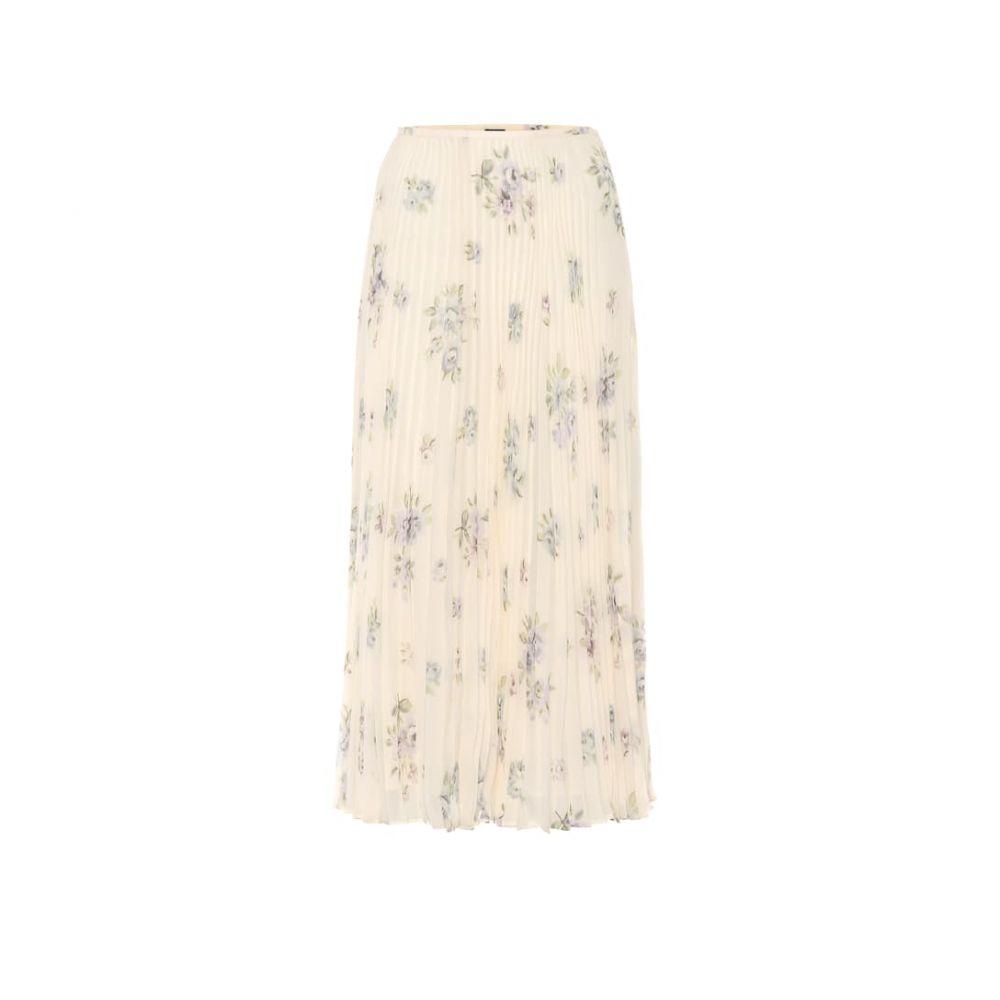ジョゼフ Joseph レディース スカート ひざ丈スカート【Pleated floral silk midi skirt】Multi
