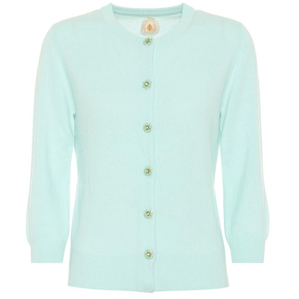ジャルダンデオランゲール Jardin des Orangers レディース トップス カーディガン【Embellished cashmere cardigan】mint
