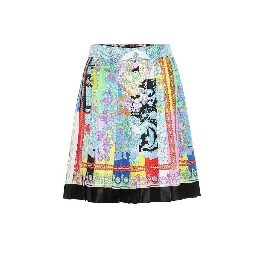 ヴェルサーチ Versace レディース スカート ミニスカート【Printed pleated silk skirt】Multicolor