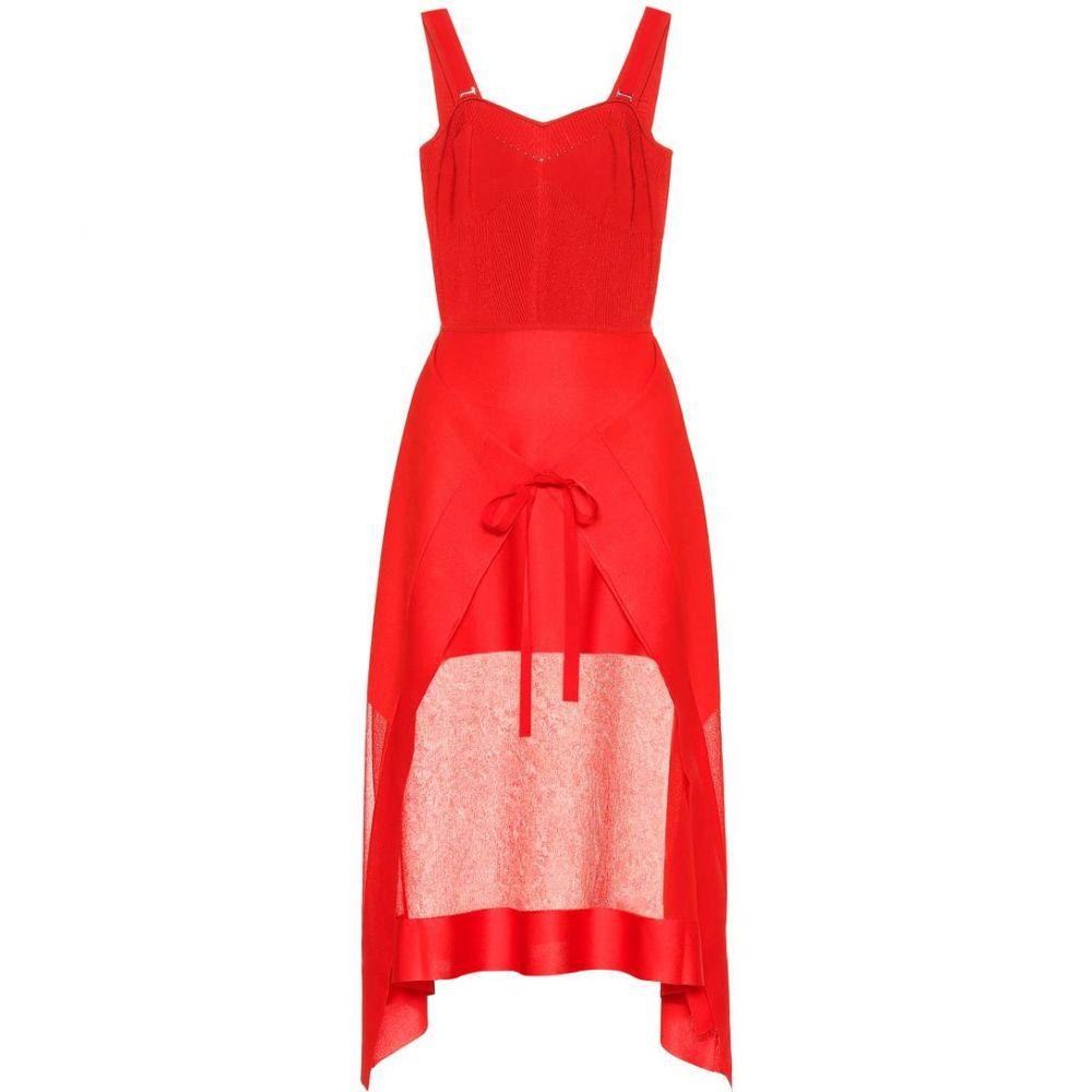 アレキサンダー マックイーン Alexander McQueen レディース ワンピース・ドレス ワンピース【Knitted dress】lust red