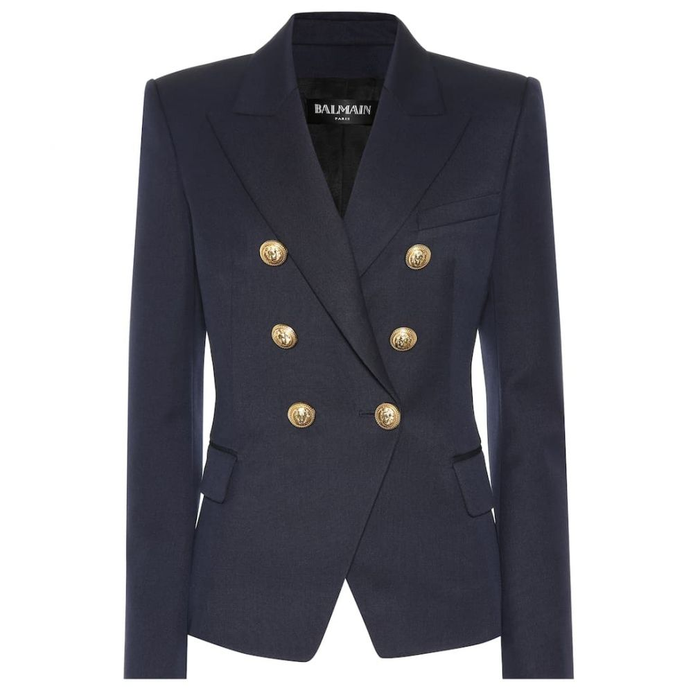 バルマン Balmain レディース アウター スーツ・ジャケット【Wool blazer】Marine