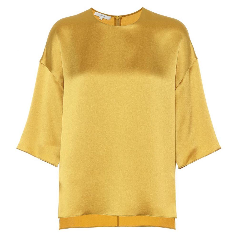 ヴィンス Vince レディース トップス ブラウス・シャツ【Silk satin blouse】Limonata