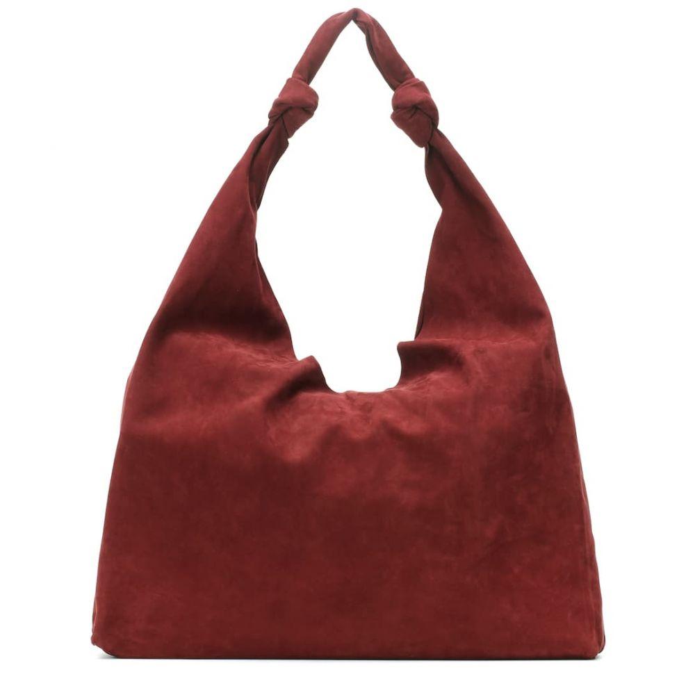 ザ ロウ The Row レディース バッグ ショルダーバッグ【Bindle suede shoulder bag】Maroon Pld
