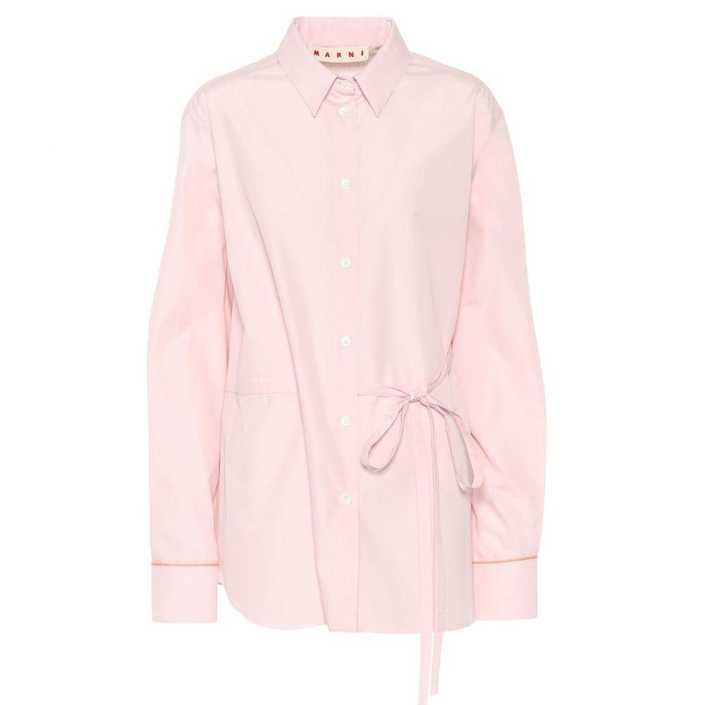 マルニ Marni レディース トップス ブラウス・シャツ【Cotton poplin shirt】Light Pink